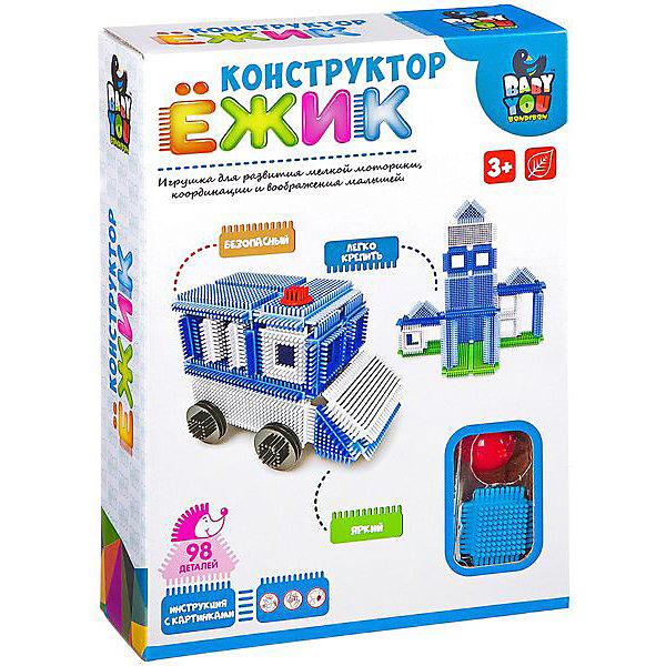Bondibon Конструктор Ёжик Машина + станция, 98 деталей