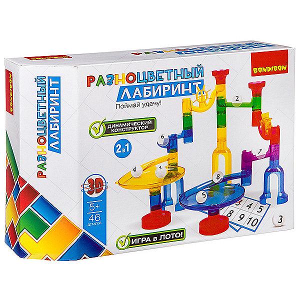 Bondibon Динамический конструктор Bondibon Разноцветный лабиринт, 46 деталей цена