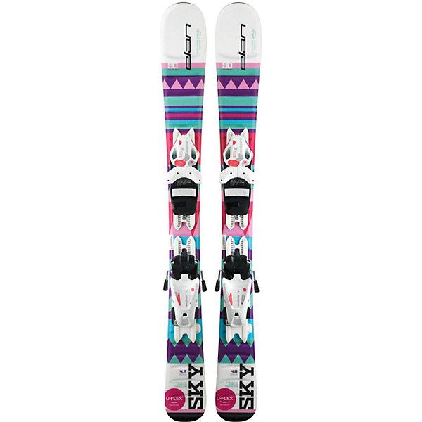 Elan Горные лыжи с креплениями Elan Sky, 90 см цена