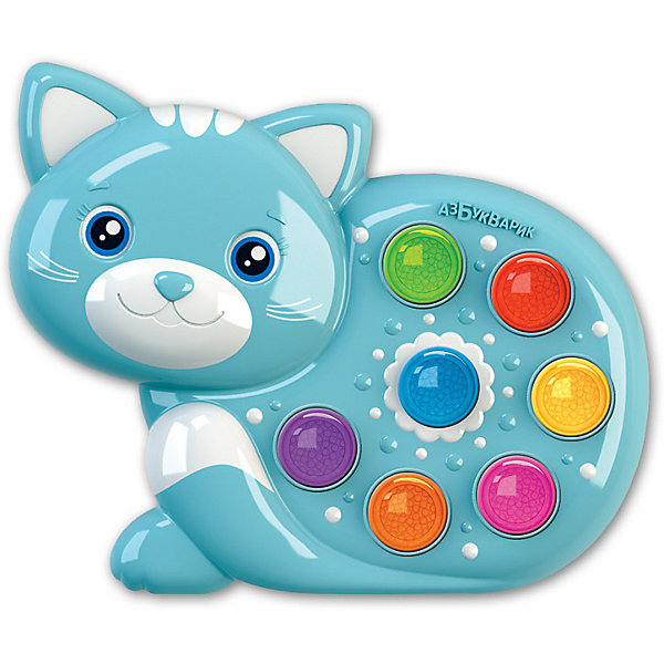Азбукварик Музыкальная игрушка Азбукварик Веселушки Котёнок lamaze музыкальная игра лев логан звук мелодия lamaze