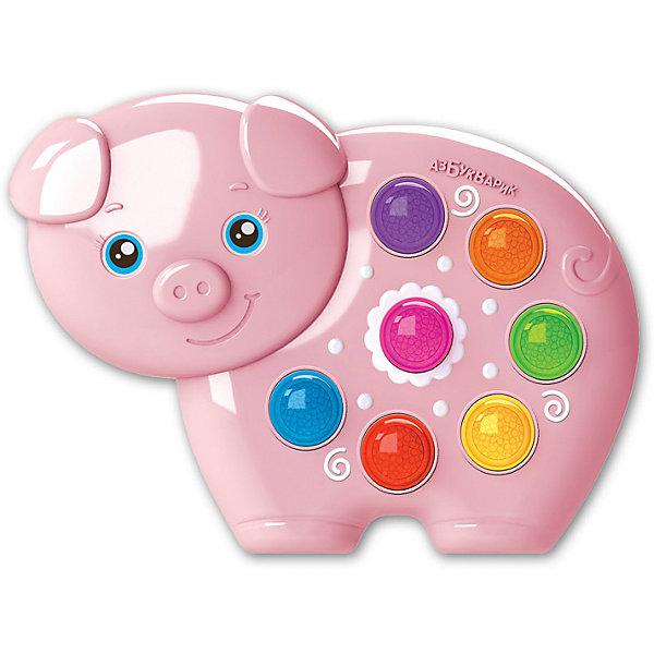 Азбукварик Музыкальная игрушка Веселушки Свинка