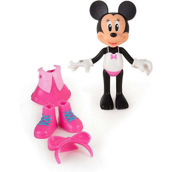 Игровой набор IMC toys Disney Mickey Mouse Минни: МодницаИгровые наборы с фигурками<br>Характеристики товара:<br><br>• материал: пластик<br>• в комплекте: фигурка, сменный наряд<br>• любимый герой: Mickey Mouse  friends<br>• персонаж: Минни Маус<br>• размер фигурки: 15 см<br>• упаковка: блистер на картоне<br>• вес в упаковке: 100 гр<br>• размер упаковки: 19х7х24 см<br>• страна бренда: Испания<br><br><br>Минни Маус настоящая модница, она нарядилась в розовое платьице с жакетиком, высокие модные ботинки и ободочек с бантиком. Одежда легко снимается и надевается, а под ней у фигурки нарисован сплошной купальник. Ручки и ножки подвижные и придают игре реалистичности. Выполнена из качественного и безопасного материала.