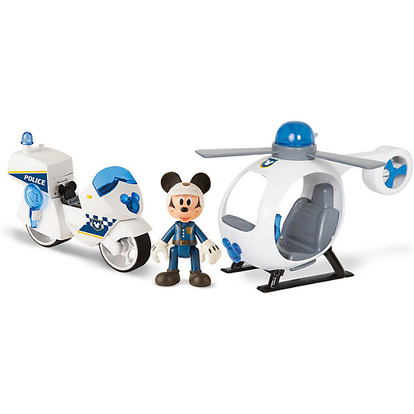 IMC Toys Игровой набор IMC toys Disney Mickey Mouse Микки и весёлые гонки: Полицейский транспорт imc toys disney мягкая игрушка микки и весёлые гонки поцелуй от микки 34 см интеракт звук