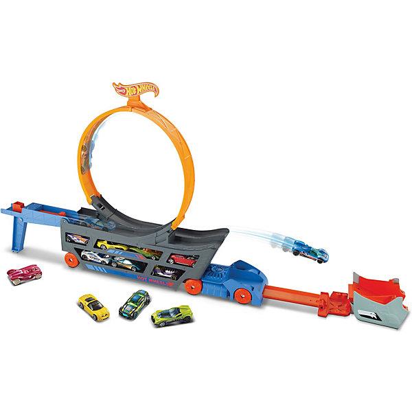 """Автотрек Hot Wheels Stunt & Go """"Трюковой тягач"""" Mattel 10449871"""