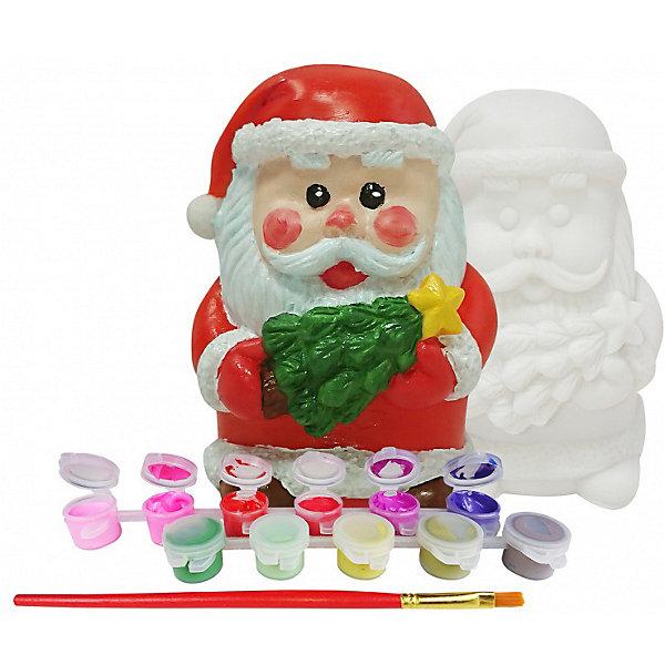 Копилка Color KIT С Новым ГодомНаборы для росписи<br>Характеристики:<br><br>• материал: винил, акрил<br>• комплекте: копилка, набор красок (10 цветов), кисть (1 шт), инструкция<br>• размер копилки: 9 х 8 см<br>• вес в упаковке: 500 гр<br>• упаковка: пакет с европодвесом<br>• бренд, страна бренда: Color KIT, Россия<br><br>Виниловая копилка представлена в виде фигурки Деда Мороза. Все необходимое для ее раскраски есть в комплекте. Такую яркую и красивую копилку можно использовать по прямому назначению, либо в качестве оригинального подарка, сделанного своими руками.