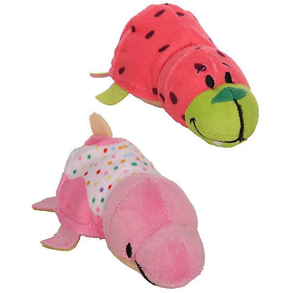 1Toy Мягкая игрушка-вывернушка 1toy Ням-Ням Морж с ароматом арбуза-Дельфин пончика кондитерской обсып