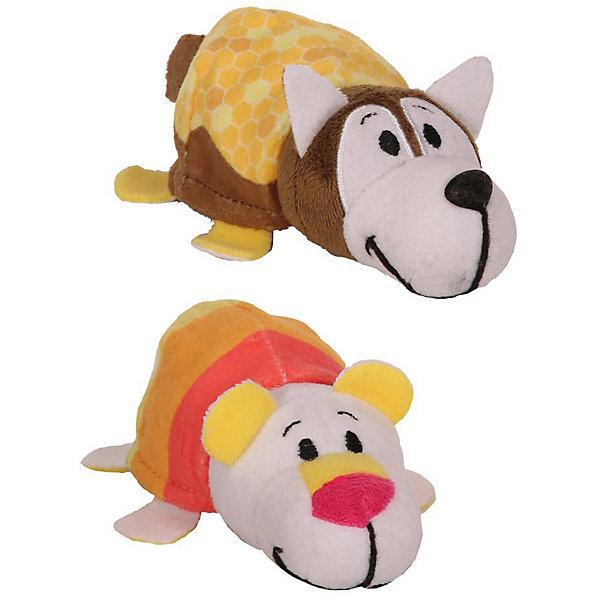 1Toy Мягкая игрушка-вывернушка 1toy Ням-Ням Хаски с ароматом медовой глазури-Полярный мишка фруктового