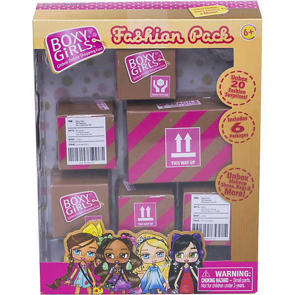 1Toy Игровой набор 1Toy Boxy Girls 6 посылок с сюрпризом для кукол boxy fancy brick carbon