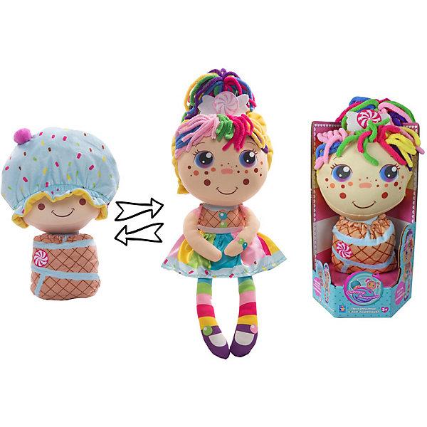 1Toy Мягкая кукла 2 в 1 1toy Девчушка-вывернушка Настюшка
