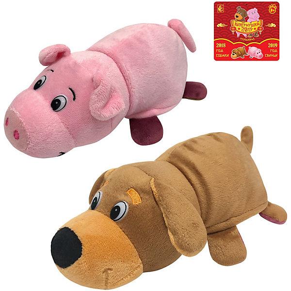 1Toy Мягкая игрушка-вывернушка 1toy Собака-Свинья, 20 см сачок 1toy 70х20 см в ассортименте