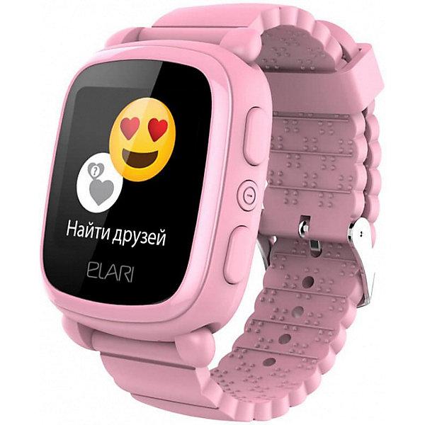Elari Часы-телефон Kidphone 2, розовые