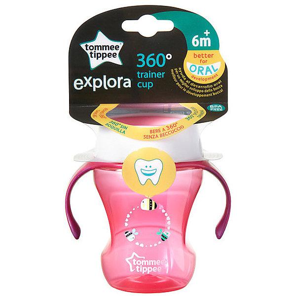 Tommee Tippee Чашка-непроливайка Explora 360 Trainer от 6 мес, розовая