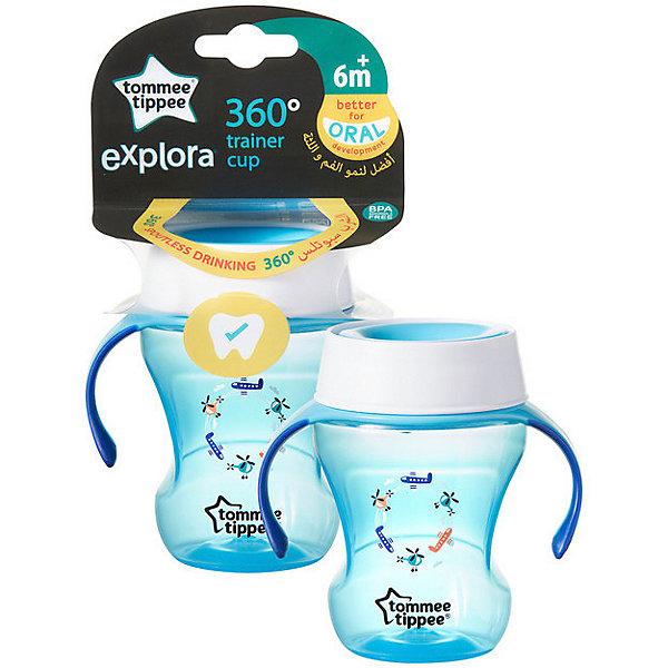 Tommee Tippee Чашка-непроливайка Explora 360 Trainer от 6 мес, голубая