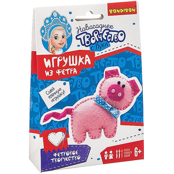 Bondibon Набор для творчества Ёлочные игрушки Свинья из фетра