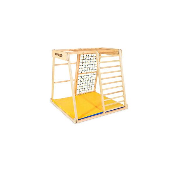 Детский спортивный комплекс Kidwood ПарусКомплексы<br>Характеристики товара:<br><br>• материал: дерево<br>• в комплекте: каркас, мат, сетка<br>• размер комплекса: 113х115х110 см<br>• размер упаковки: 118х66х34 см<br>• вес упаковки: 25 кг<br><br>Спортивный комплекс способствует физическому развитию ребенка. Комплекс может использоваться как дома, так и на дачном участке. Состоит из нескольких граней с перекладинами и сеткой, дополнительно может быть укомплектован подвесными аксессуарами (в комплект не входят). Комплекс легко переворачивается и устанавливается в разных положениях. Каркас выполнен из натурального дерева.
