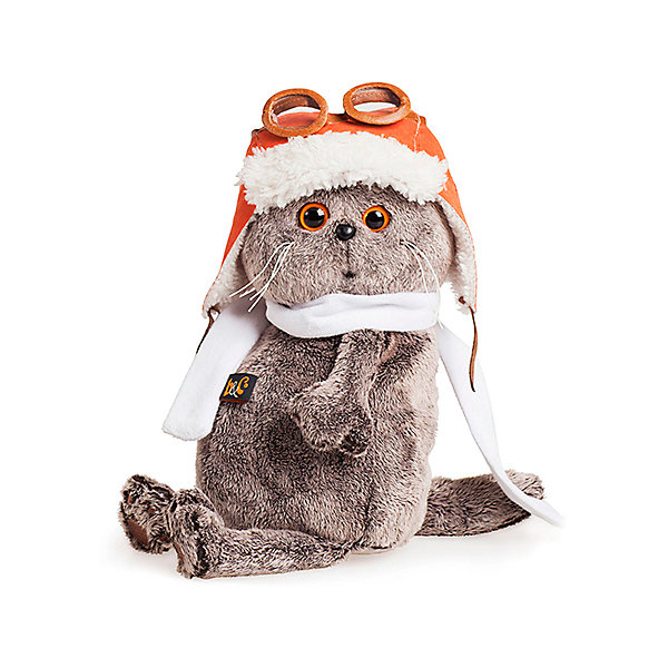 Budi Basa Мягкая игрушка Budi Basa Кот Басик в шлеме и шарфе, 22 см цена