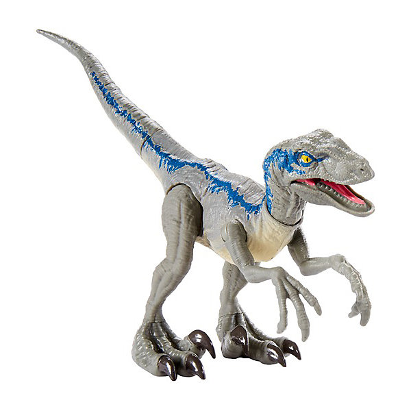 Купить Базовая фигурка динозавра Jurassic World Dino Rivals Велоцерпатор, синий, Mattel, Китай, Женский