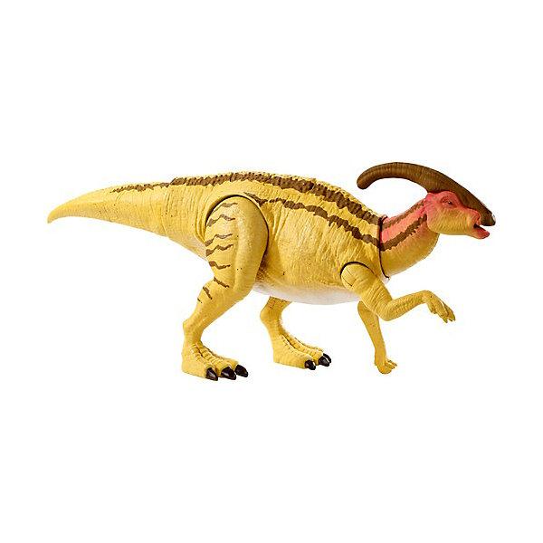 Купить Базовая фигурка динозавра Jurassic World Двойной удар Паразауролоф, Mattel, Китай, Женский