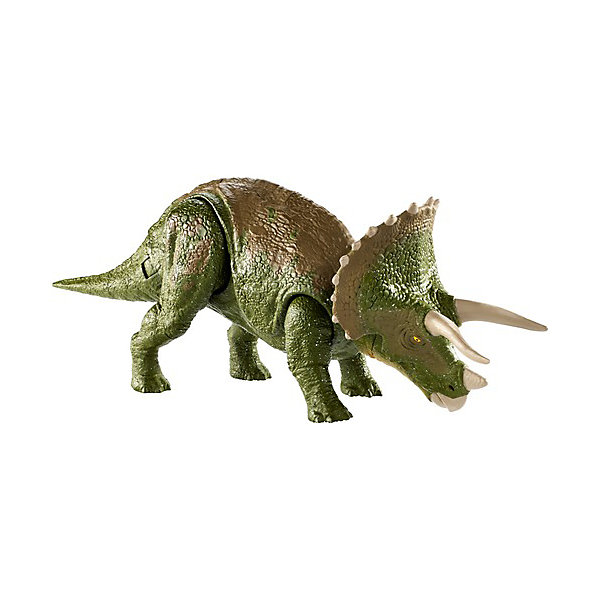Купить Базовая фигурка динозавра Jurassic World Двойной удар Трицераптос, Mattel, Китай, Женский