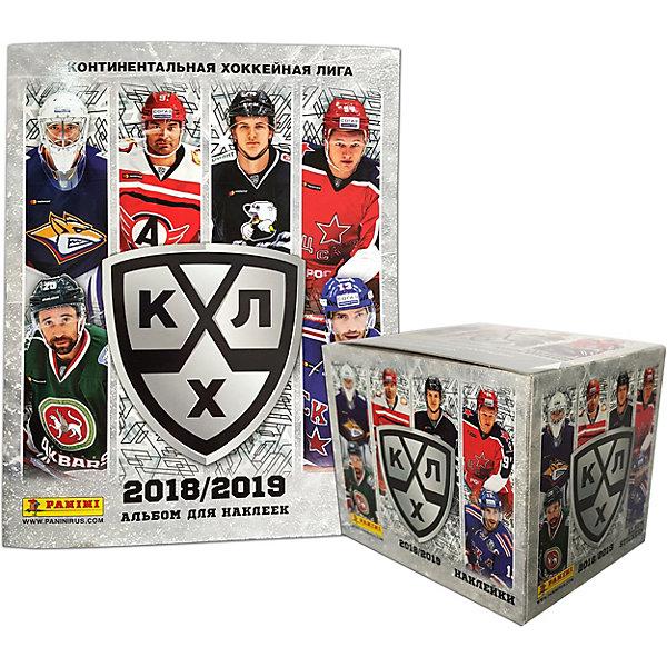 Panini Альбом и бокс с наклейками Hockee RU season 11/КХЛ сезон 2018-19 (50 пакетиков в боксе)