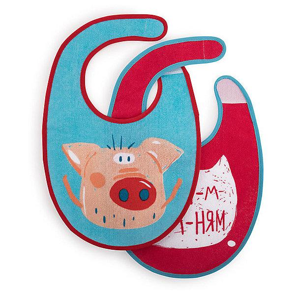Купить Нагрудные фартуки Happy Baby Хрюша 2 шт., Тайвань, разноцветный, Унисекс