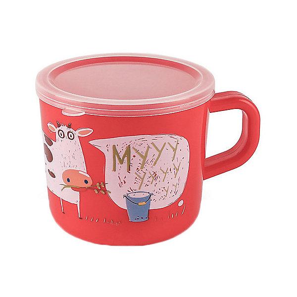 кружка на присоске happy baby baby cup with suction base 15022 red Happy Baby Кружка с крышкой Happy Baby 240 мл.