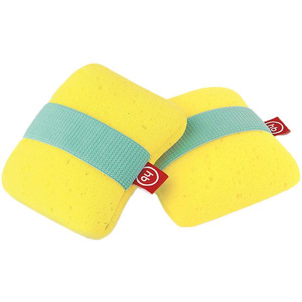 Мочалка Happy Baby, жёлтая