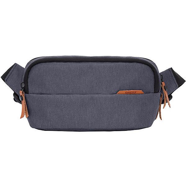 Сумка на пояс Grizzly, малая, серыйПоясные сумки<br>Характеристики:<br><br>• цвет: серый<br>• материал: полиэстер<br>• размер рюкзака: 25х6,5х13 см<br>• вес рюкзака: 207 гр<br>• тип застёжки: молния<br>• количество отделений: 2<br>• внутренний двойной плоский карман<br>• карман на задней стенки<br>• регулируемый поясной ремень<br>• брелок для ключей<br>• страна бренда: Россия<br><br>Молодежная поясная сумка - это удобный аксессуар, который можно носить не только на поясе, но и через плечо. Изделие имеет 2 основных отделения, внешний и внутренний карманы и брелок. Ремень регулируется по размеру.