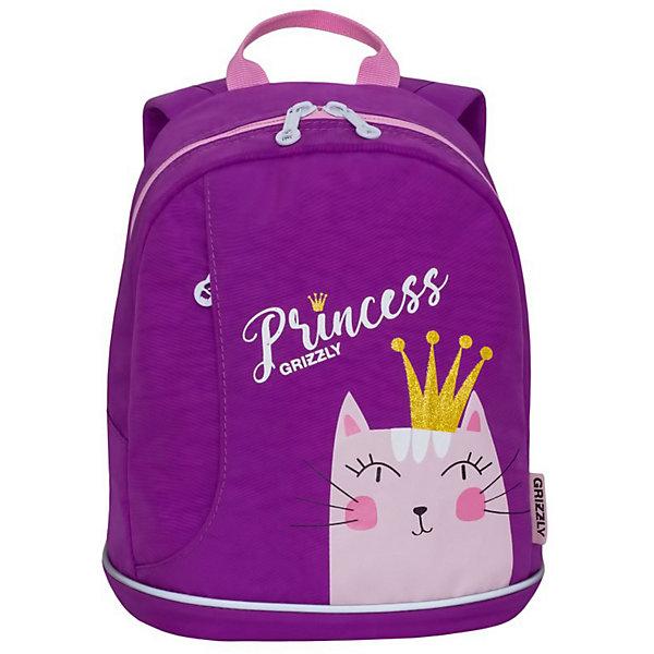 Grizzly Рюкзак детский Grizzly, лиловый рюкзак детский proff жесткий говорящий том 38 29 21 см с 1 отделением на замке