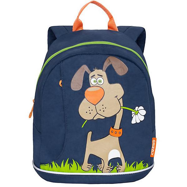 Grizzly Рюкзак детский Grizzly, синий рюкзак детский proff жесткий говорящий том 38 29 21 см с 1 отделением на замке