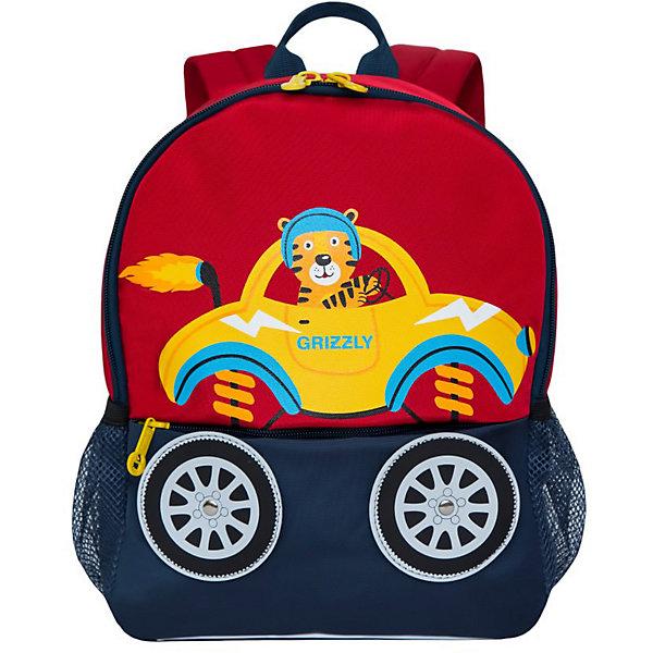 Рюкзак Grizzly, красный - синий