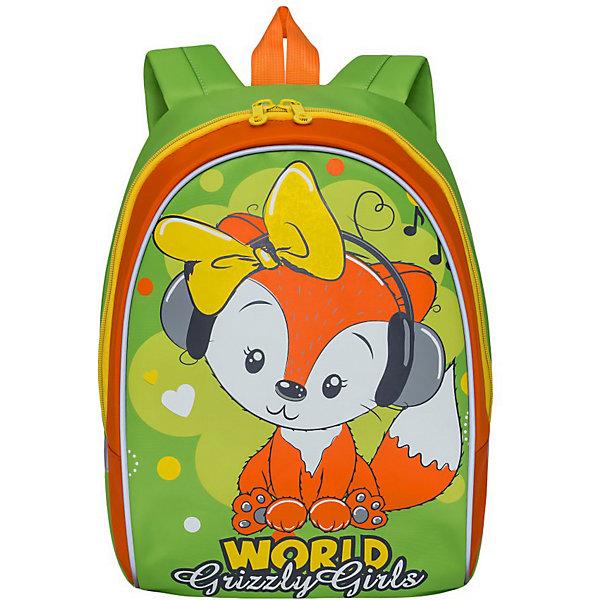 Grizzly Рюкзак детский , салатовый - оранжевый
