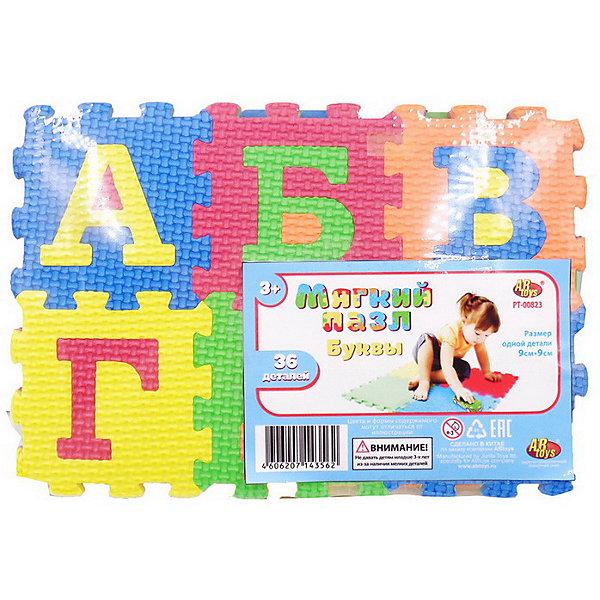 Купить Коврик-пазл ABtoys Мягкие пазлы Буквы, 36 элементов, Китай, разноцветный, Унисекс
