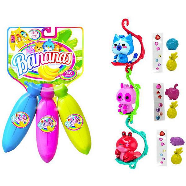 """Cepia Игровой набор Cepia """"Bananas"""" 3 банана с сюрпризом, синий, фиолетовый, розовый"""
