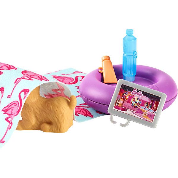 Mattel Набор мебели для кукол Barbie Отдых на природе Пляжные принадлежности