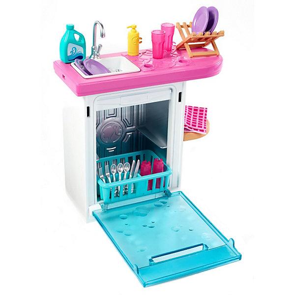 Mattel Набор мебели для кукол Barbie Отдых дома Посудомоечная машина с раковиной