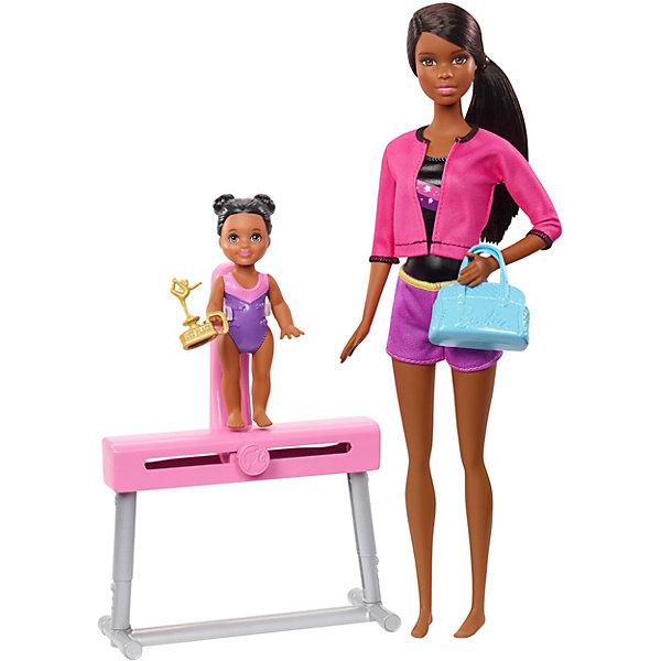 Mattel Игровой набор Barbie Спортивная карьера Гимнастика, брюнетка куклы и одежда для кукол barbie игровой набор спортивная карьера