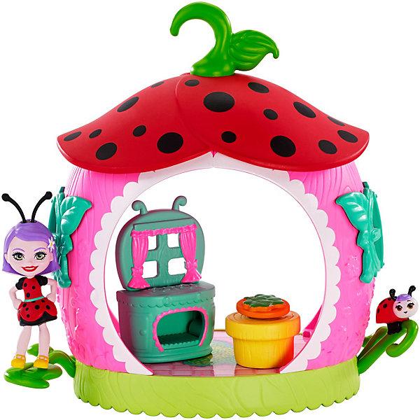 Купить Игровой набор Enchantimals Домик букашек Ладилия Божья Коровка и кухня, Mattel, Китай, Женский