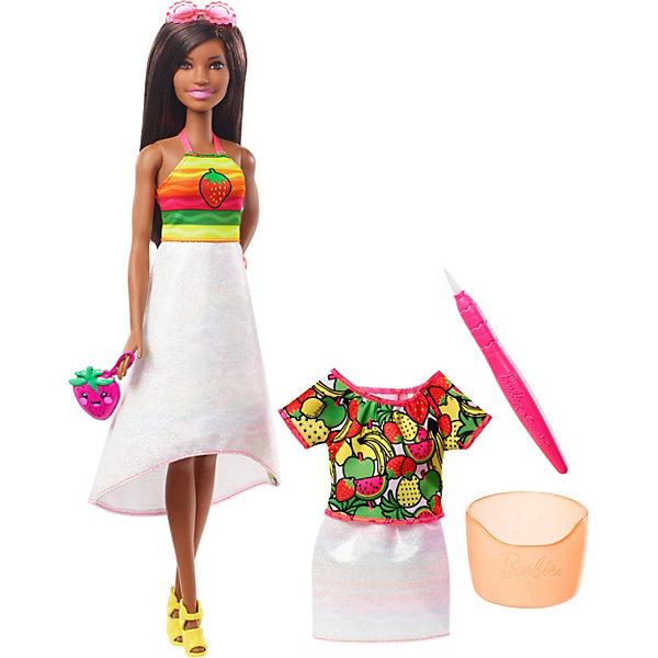 Mattel Набор с куклой Barbie x Crayola Фруктовый сюрприз, брюнетка