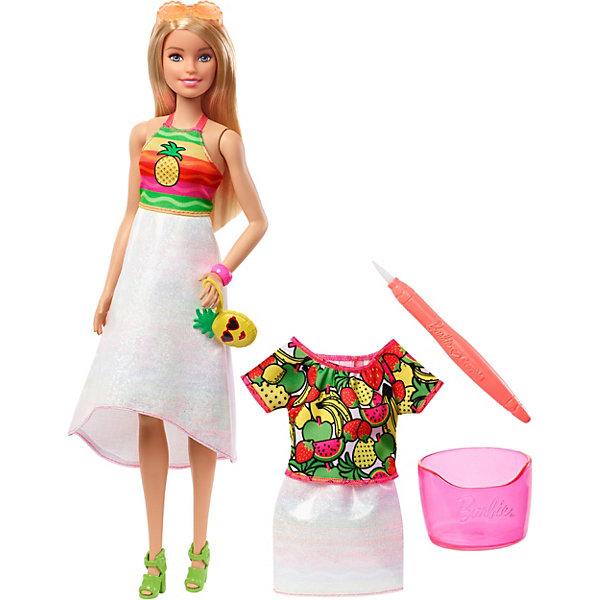Mattel Набор с куклой Barbie x Crayola Фруктовый сюрприз, блондинка