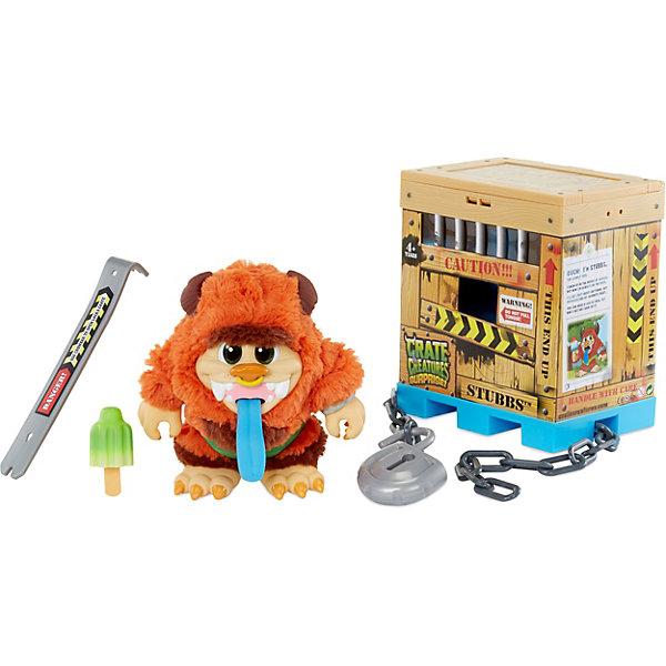 Интерактивный монстр Crate Creatures, СнортИнтерактивные мягкие игрушки<br>Характеристики:<br><br>• материал: пластик<br>• серия Crate Creatures<br>• интерактивная игрушка;<br>• необычная упаковка и привлекательный внешний вид;<br>• реагирует на положение тела и прикосновения;<br>• более 45 комбинаций звуков и движений;<br>• записывает и воспроизводит фразы;<br>• аксессуар в комплекте.<br>• для работы игрушки требуются 3 батарейки AA<br>• комплект входят демонстрационные батарейки, перед игрой их рекомендуется заменить на новые<br>• размер упаковки: 17х13х20 см<br>• вес: 1,3 кг<br><br>Crate Creatures – это очаровательные интерактивные монстрики, которые спрятаны в клетке. Потяните за язычок монстрика, чтобы он проснулся, завибрировал и начал издавать веселые звуки. Затем возьмите ломик (в комплекте), чтобы освободить своего нового любимца.<br><br>Когда клетка откроется, вы увидите забавное существо по имени Снорт покрытое шерстью, из его огромной пасти торчат острые клыки. Он очень забавный и совсем не страшный.<br><br>Монстрик реагирует на положение своего тела (тряску, переворачивание), нажатие на животик и язычок. В ответ на это он будет произносить фразы забавным голосом, вибрировать, записывать и воспроизводить ваш голос, у него будут светиться глазки.  А еще у него в комплекте есть любимое лакомство, которым его можно накормить.