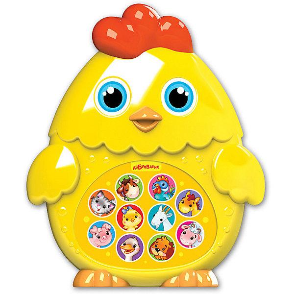 Музыкальная игрушка Азбукварик Зверята-малышата ЦыплёнокИнтерактивные игрушки для малышей<br>Характеристики:<br><br>• материал: пластик<br>• тип: музыкальная игрушка<br>• работает от батареек: 3ААА (не входят в комплект)<br>• особенности: QR-код для скачивания развивающих книг в мобильном приложении<br>• вес: 170 г<br>• размер упаковки:19,5 х 19 х 5 см  <br>• размер товара:14 х 11,6 х 4,8 см  <br>• вид упаковки: блистер на картоне<br>• страна бренда: Россия<br><br>Веселая и яркая игрушка контрастных цветов поможет сфокусировать внимание и слух малыша.  Музыкальный «Цыпленок» из серии «Зверята-малышата» воспроизводит множество мелодий и песенок при нажатии на кнопки.<br><br>Благодаря легкому весу и эргономичной форме, изделие удобно держать в руке. Многофункциональная модель выполнена из высококачественного пластика, безопасного для детского здоровья.