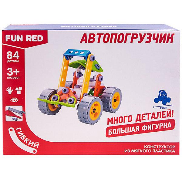 Fun Red Гибкий конструктор Fun Red Автопогрузчик, 84 детали конструктор пластиковый toto 021 подъемник 84 детали