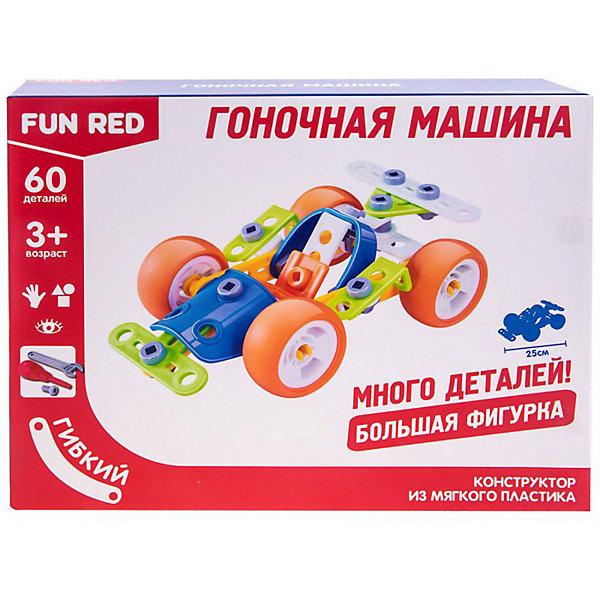 Fun Red Гибкий конструктор Fun Red Гоночная машина, 60 деталей конструктор fun red танистрофей 22 детали разноцветный