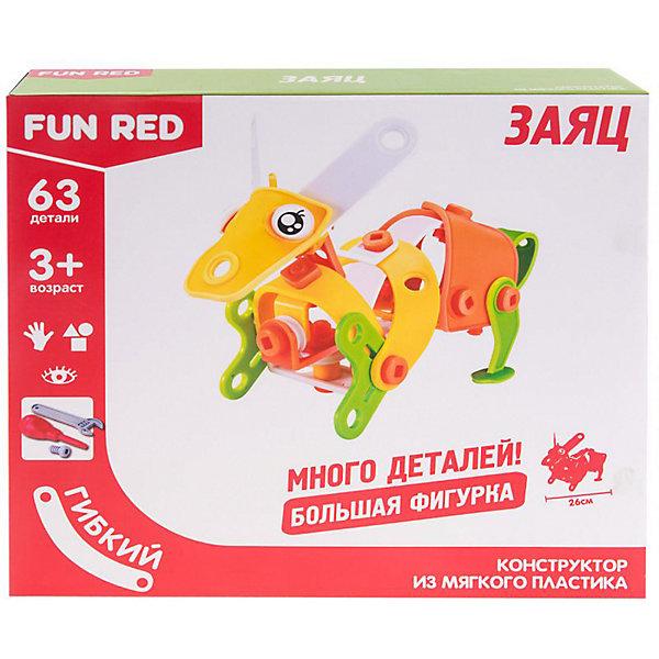 Fun Red Гибкий конструктор Fun Red Заяц, 63 детали конструктор fun red танистрофей 22 детали разноцветный