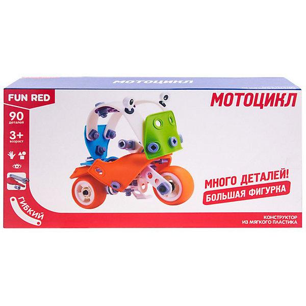 Fun Red Гибкий конструктор Мотоцикл, 90 деталей