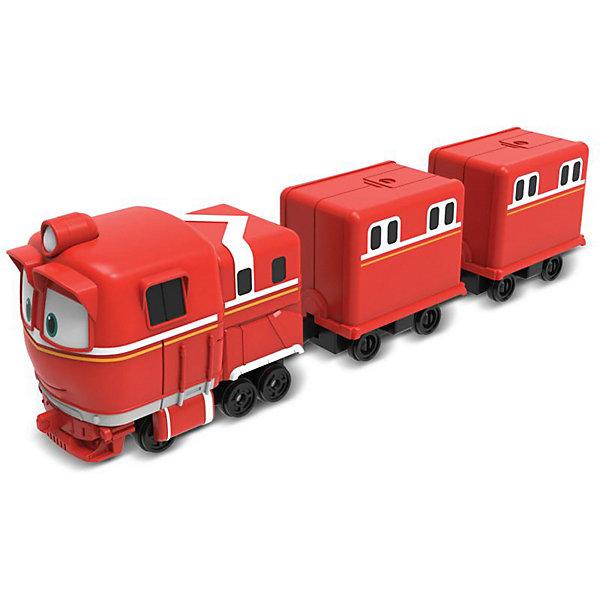 Robot Trains Паровозик с двумя вагонами Silverit Robot Trains Альф железные дороги robot trains паровозик кей