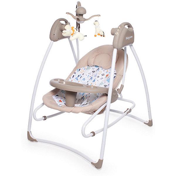 Baby Care Электрокачели   Butterfly 2 в 1, бежевые