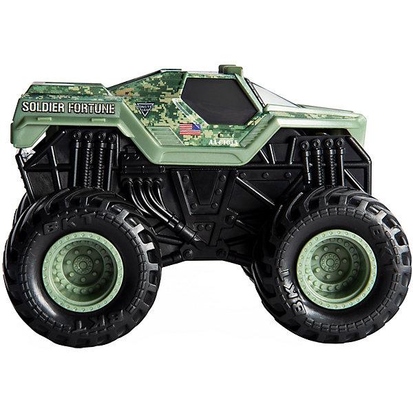 Машинка Spin Master Monster Jam Звуки мотора Soldier FortuneМашинки, самолёты, автортреки<br>Характеристики:<br><br>• масштаб: 1:43<br>• страна бренда: Канада<br><br>Модель с агрессивным дизайном в стиле машин для шоу Monster Jam. Все части игрушки детализированы. Машинка издает звуки мотора во время игры. Выполнена из прочного материала, покрыта стойкими красками.