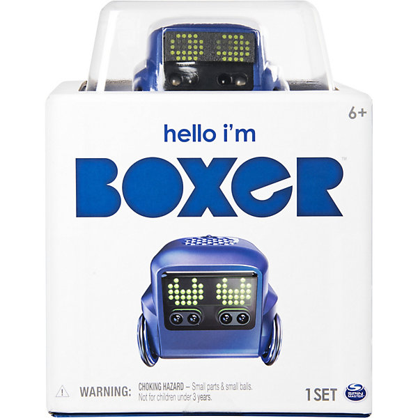 Интерактивный робот Spin Master Boxer, синий, Интерактивный робот Spin Master Boxer,